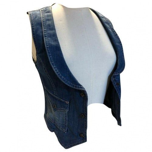Pre-owned Replay Blue Denim - Jeans  Top