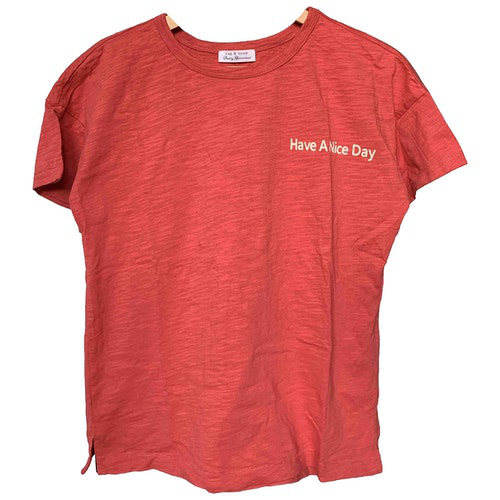Pre-owned Rag & Bone Red Cotton  Top