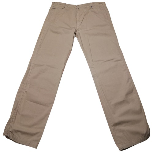 Pre-owned Diesel Beige Cotton Trousers