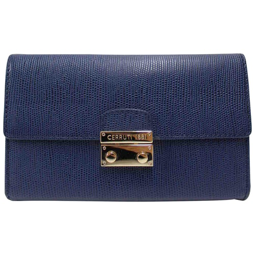 Pre-owned Cerruti 1881 Blue Leather Clutch Bag