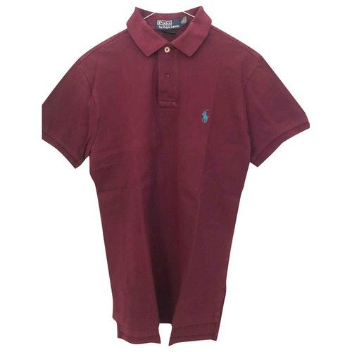Pre-owned Polo Ralph Lauren Polo Ajusté Manches Courtes Burgundy Cotton Polo Shirts