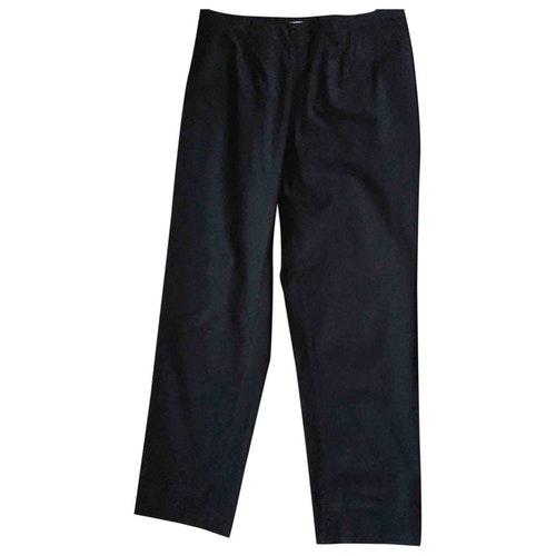 Pre-owned Armani Collezioni Navy Cotton Trousers