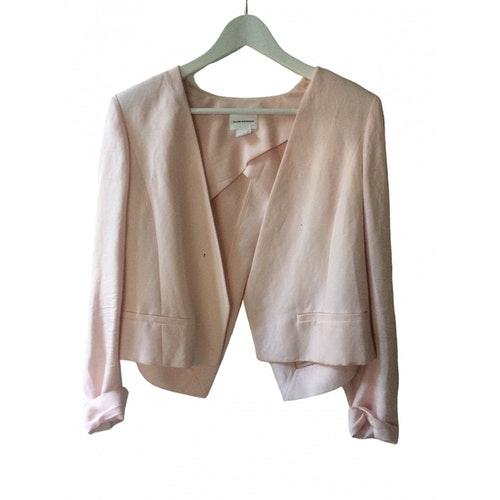 Pre-owned Club Monaco Pink Linen Jacket