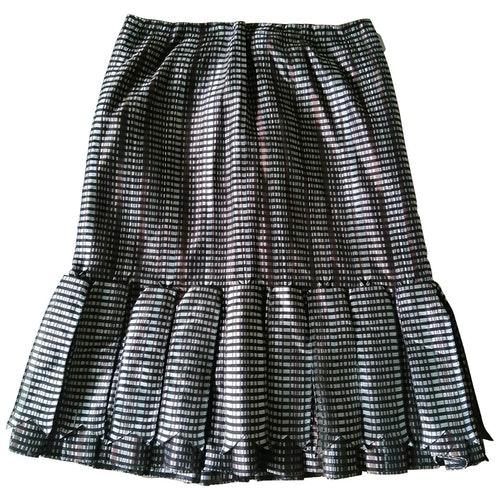Pre-owned Carolina Herrera Silk Skirt