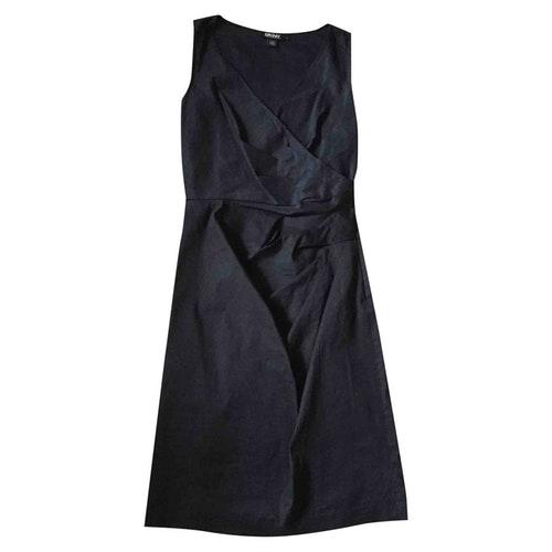 Pre-owned Dkny Black Cotton - Elasthane Dress