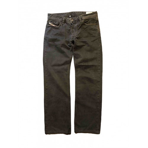 Pre-owned Diesel Grey Cotton Jeans