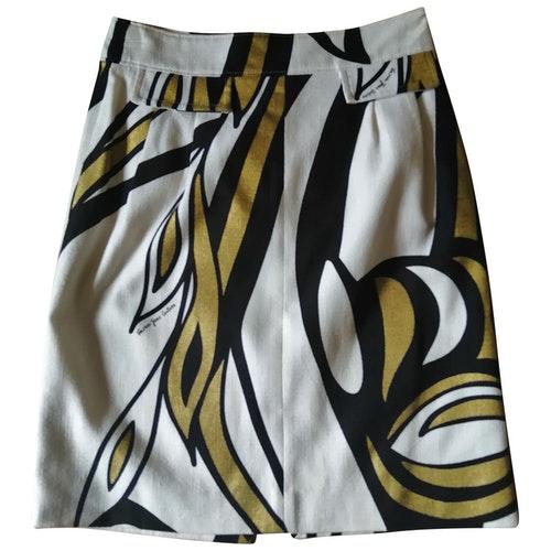 Pre-owned Versace Jeans Multicolour Linen Skirt