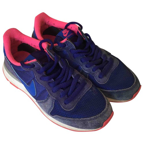 Pre-owned Nike Internationalist Blue Cloth Trainers
