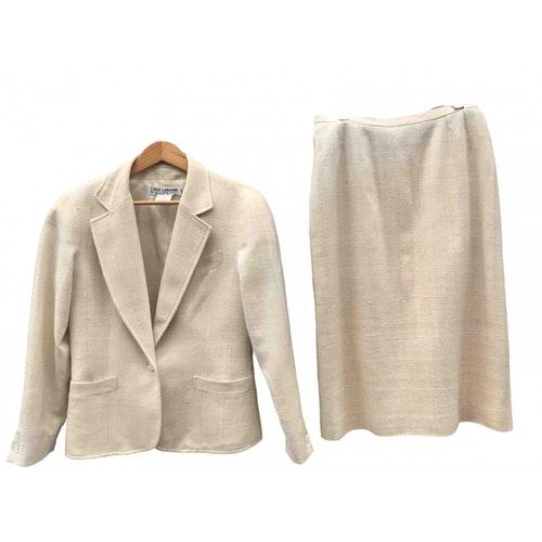 Pre-owned Guy Laroche Ecru Silk Skirt