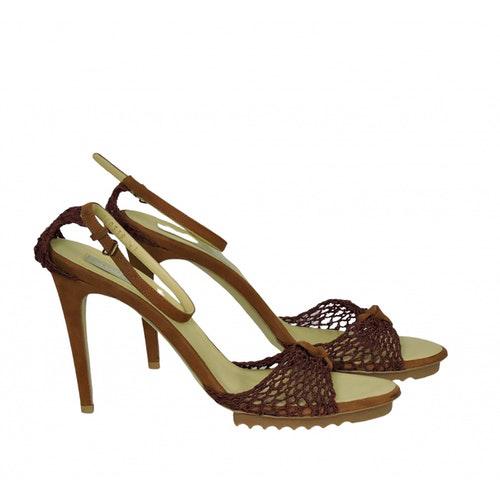 Pre-owned Stella Mccartney Burgundy Cloth Sandals