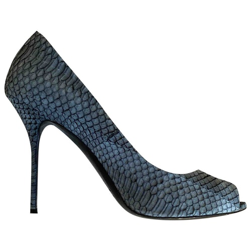 Pre-owned Pierre Hardy Grey Python Heels