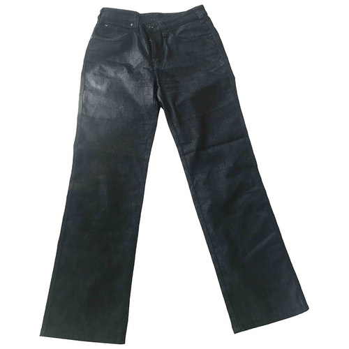 Pre-owned Armani Jeans Grey Cotton - Elasthane Jeans