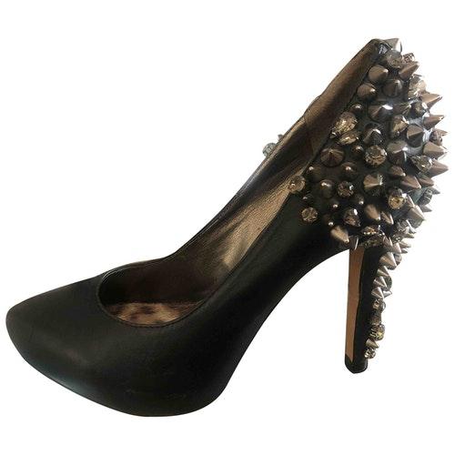 Pre-owned Sam Edelman Black Leather Heels
