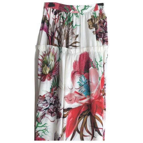 Pre-owned Roberto Cavalli Multicolour Silk Skirt