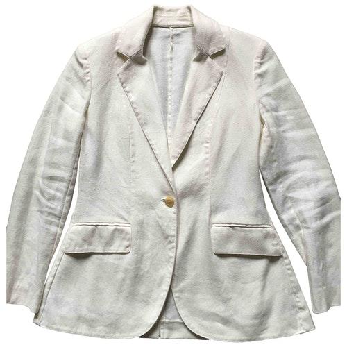 Pre-owned Ballantyne White Linen Jacket
