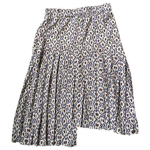 Pre-owned Isabel Marant Ecru Silk Skirt