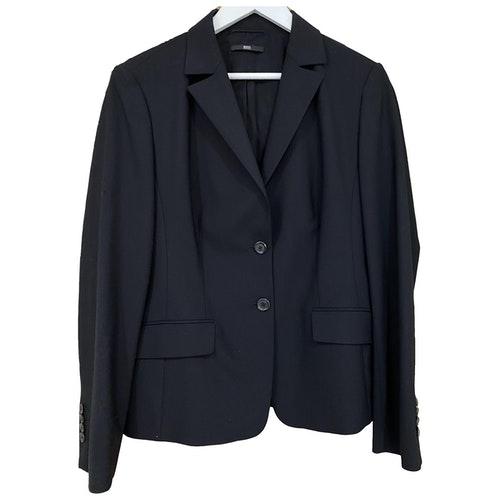 Pre-owned Hugo Boss Black Wool Jacket