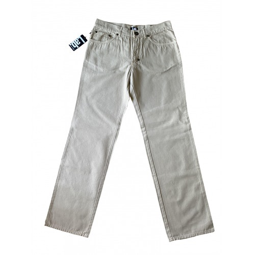 Pre-owned Pal Zileri Grey Cotton Trousers