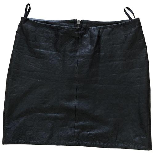 Pre-owned Muubaa Black Leather Skirt