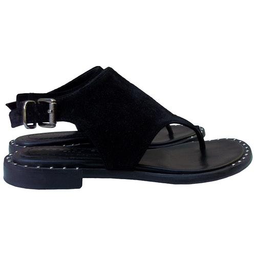 Pre-owned Barbara Bui Black Suede Sandals
