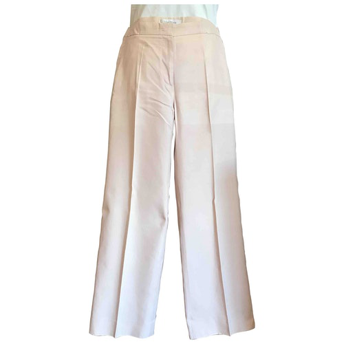 Pre-owned Max Mara Pink Cotton Trousers