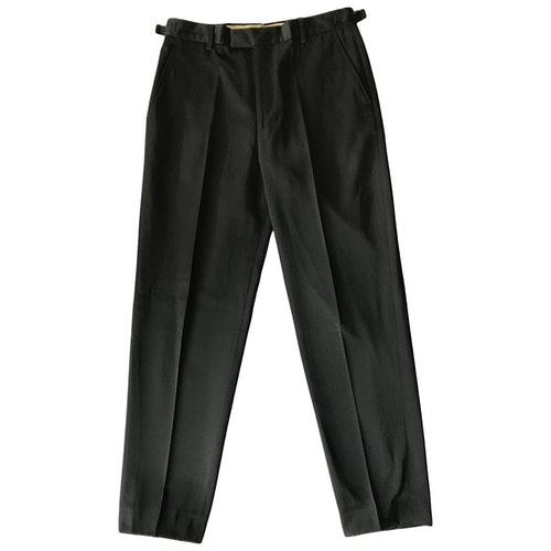 Pre-owned Paul Smith Black Cotton Trousers