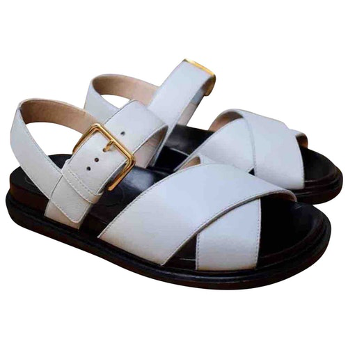 Pre-owned Marni White Leather Sandals