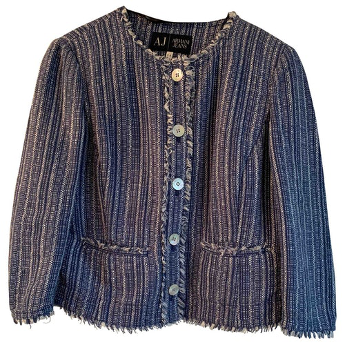 Pre-owned Armani Jeans Blue Cotton Jacket
