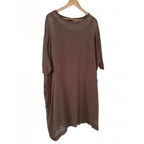Pre-owned Eileen Fisher Brown Silk Dress