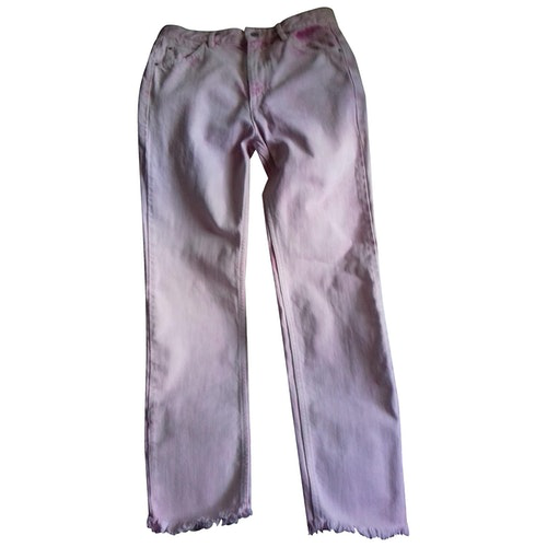 Pre-owned Isabel Marant Étoile Pink Cotton Jeans