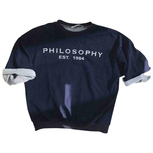Pre-owned Philosophy Di Lorenzo Serafini Blue Cotton  Top