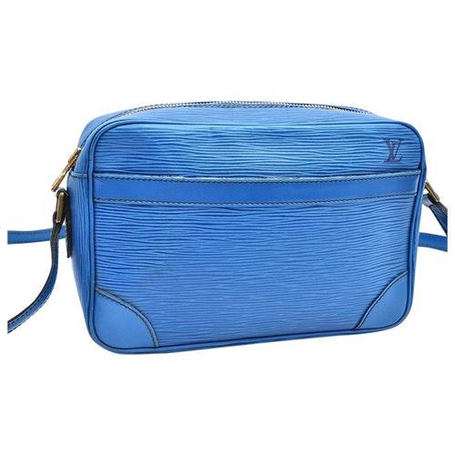 Pre-owned Louis Vuitton Trocadéro Blue Leather Handbag