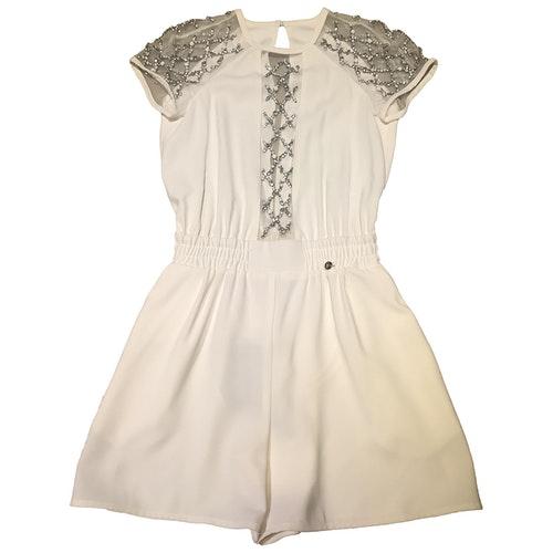 Pre-owned Elisabetta Franchi White Jumpsuit