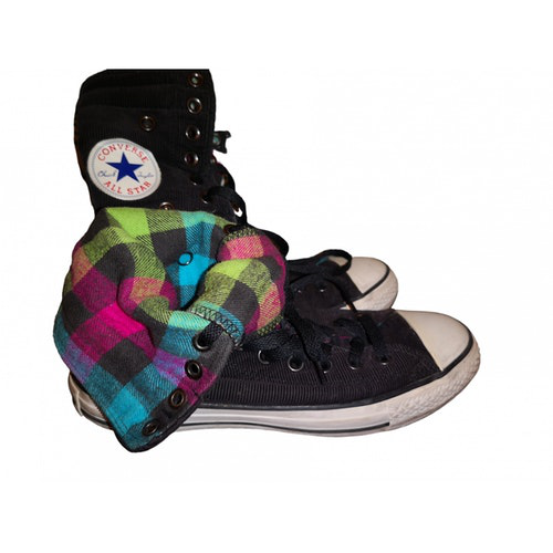 Pre-owned Converse Black Velvet Trainers