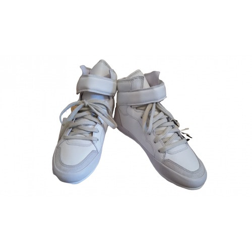 Pre-owned Isabel Marant White Leather Trainers