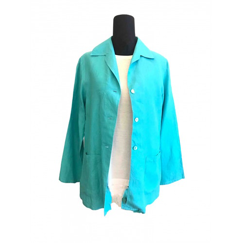 Pre-owned Max Mara Turquoise Linen Jacket