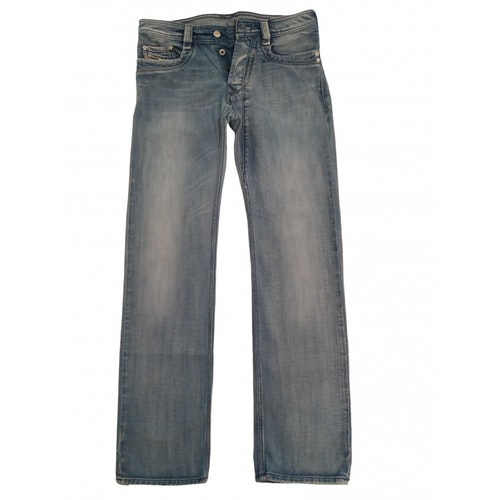 Pre-owned Diesel Blue Cotton Jeans