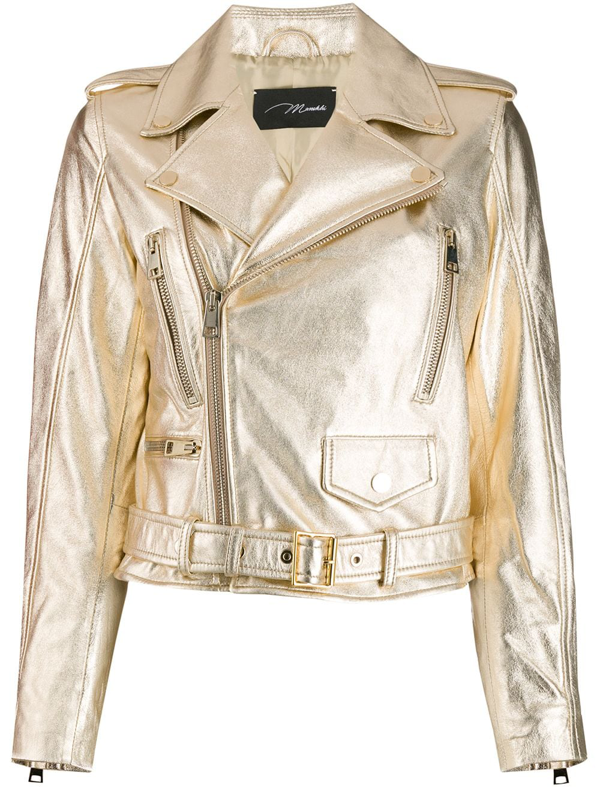 Manokhi Metallic Biker Jacket