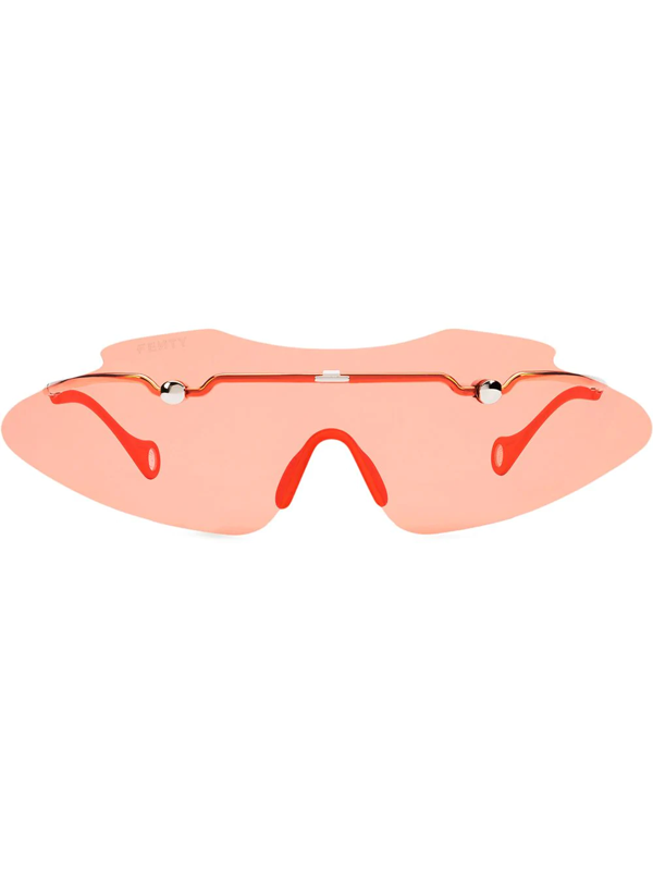 Fenty Women's Centerfold 130mm Mask Sunglasses In Red