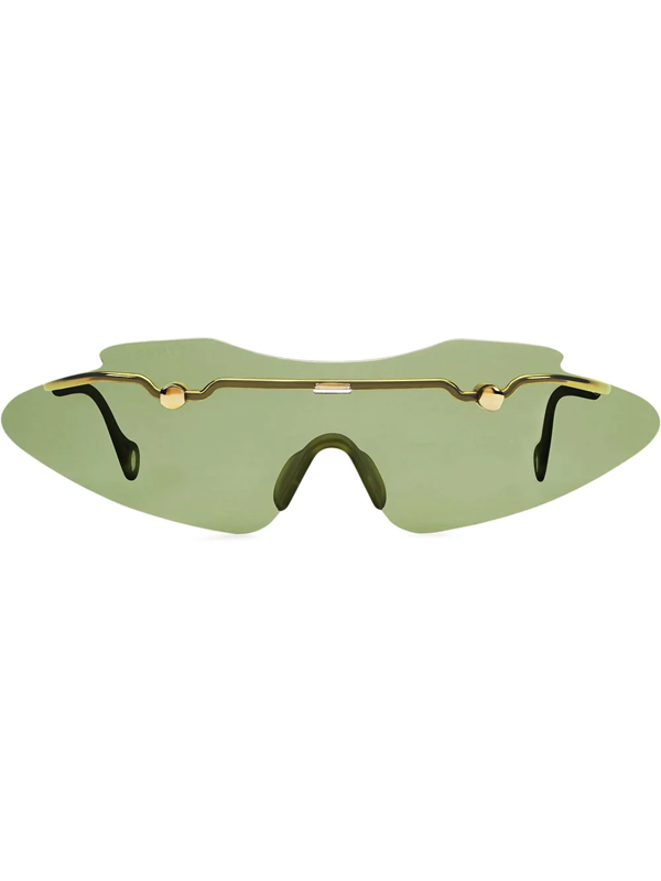 Fenty Women's Centerfold 130mm Mask Sunglasses In Green