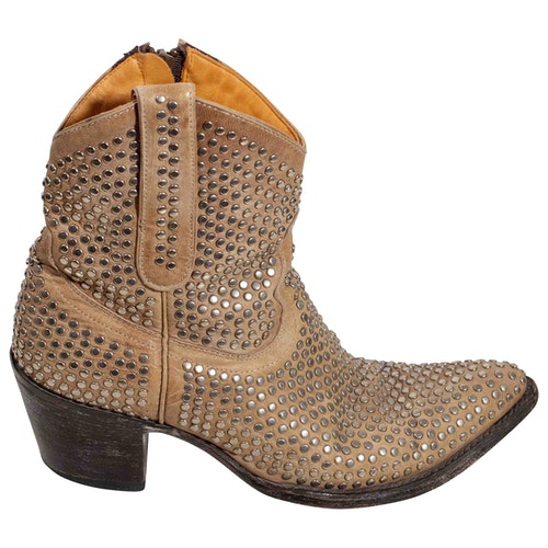 Pre-owned Mexicana Beige Leather Ankle Boots