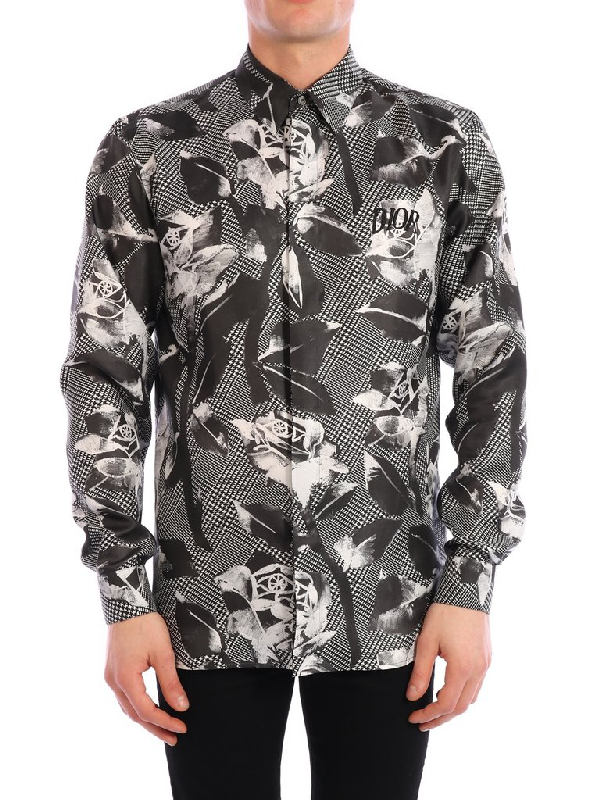 Dior Homme Floral Print Shirt In Multi