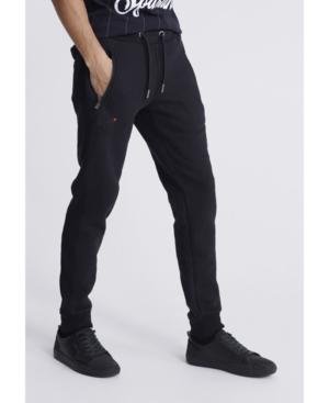 Superdry Men's Orange Label Joggers In Black