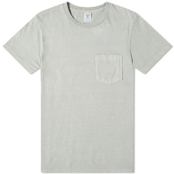 Velva Sheen Pigment Dyed Pocket Tee In Grey