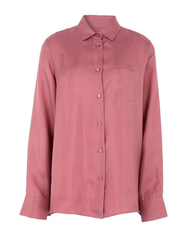 Weekend Max Mara Long-sleeved Silk Shirt In Pink