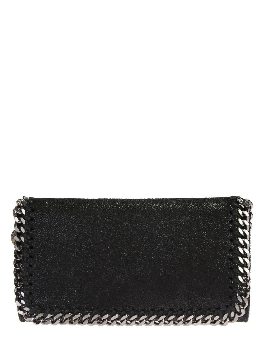 Stella Mccartney Faux Leather Falabella Shaggy Iphone 6 Holder Bag In Black