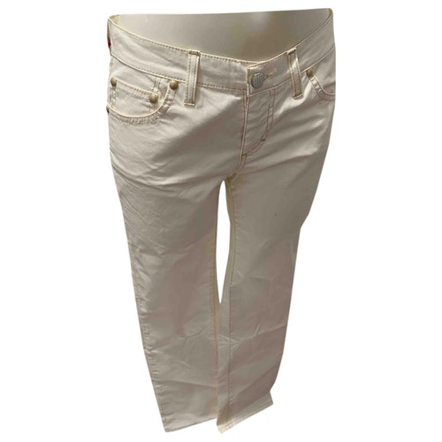 Pre-owned Holiday White Cotton Jeans