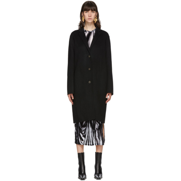 Acne Studios Black Wool Single-breasted Coat
