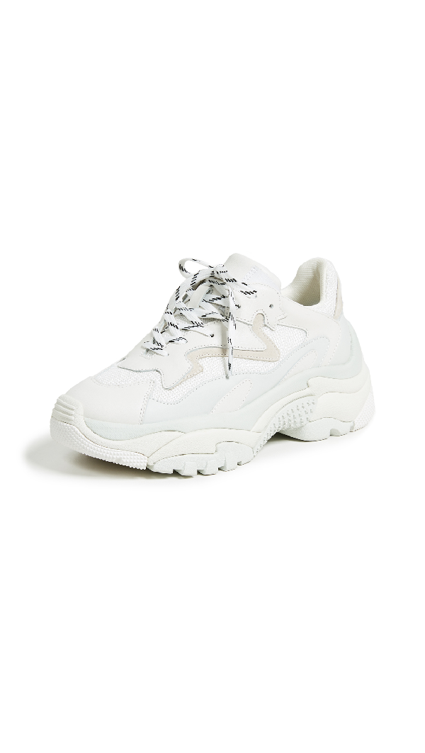 Ash Multicolour Leather Addict 12 Low-top Sneakers In White