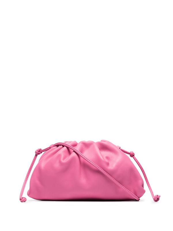 Bottega Veneta Pink The Mini Pouch Leather Clutch Bag